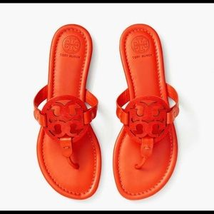 Tory Burch Miller Sandal Embossed Leather 8
